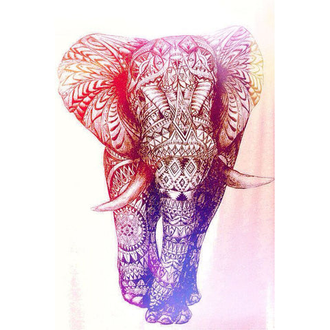 Elephant Sketch Tapestry