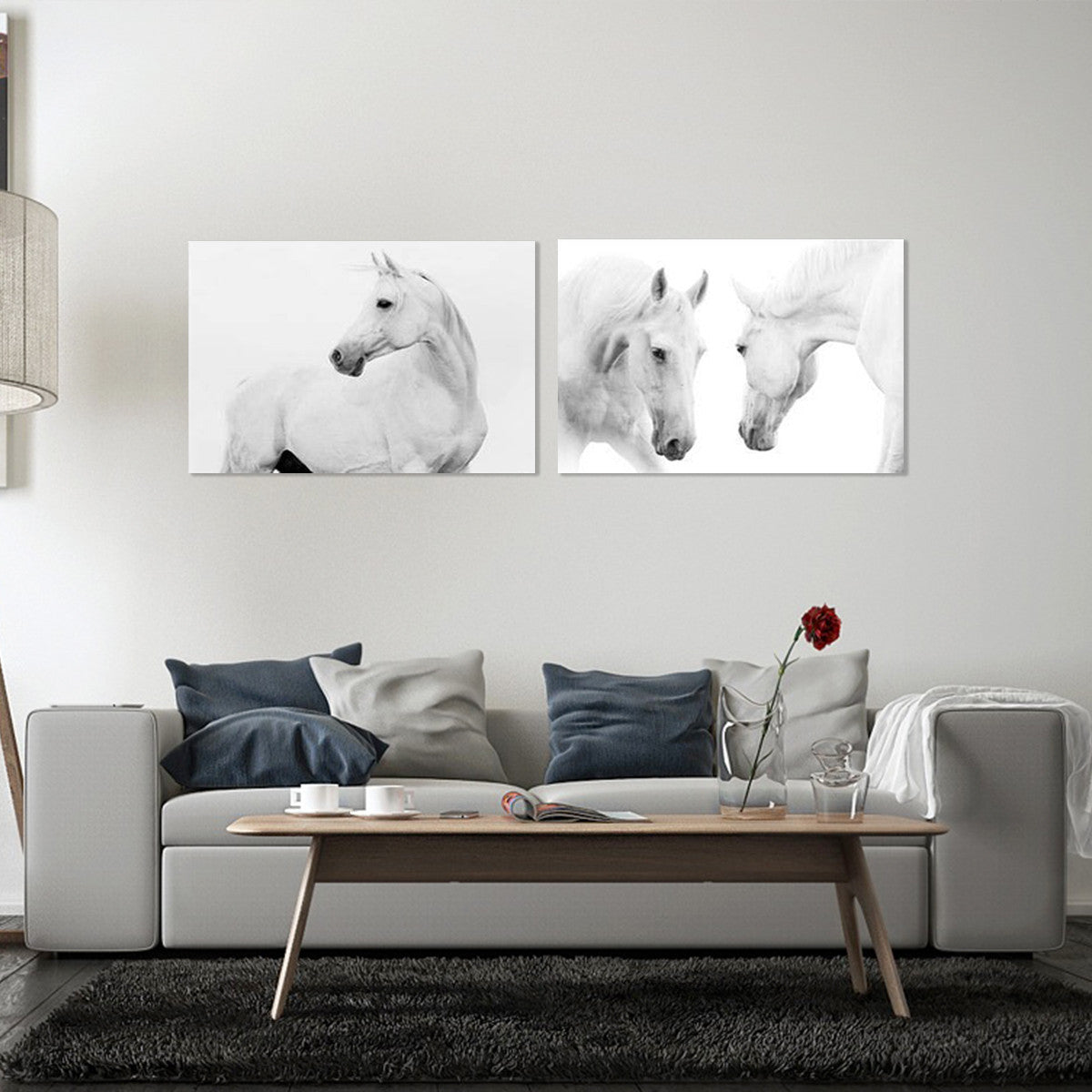 Purity Horses 2 Piece Canvas