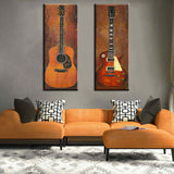 Guitar Duo 2 Piece Canvas