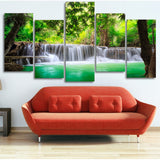 Limited Edition Tropical Waterfalls 5 Piece Canvas