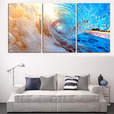Limited Edition Wave Ride 3 Piece Canvas