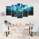 Blue Night 5 Piece Canvas