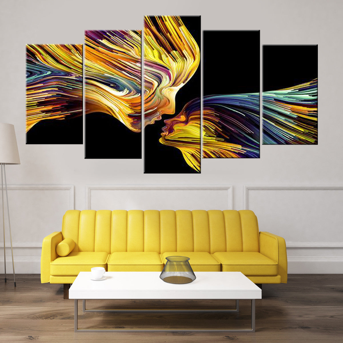 Abstract Kiss 5 piece Canvas
