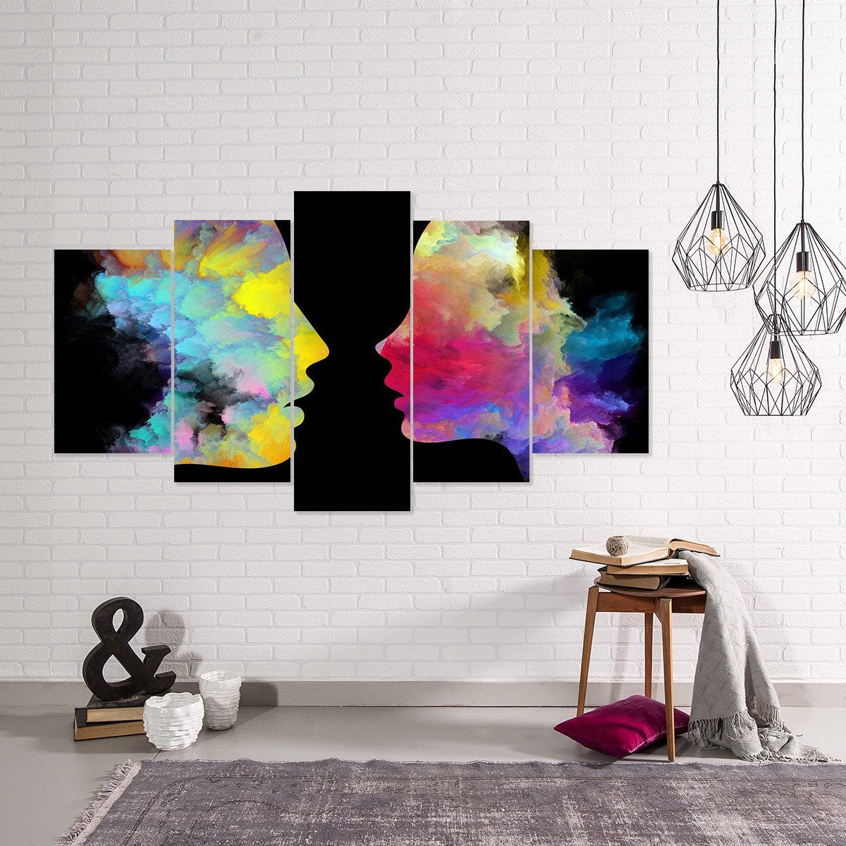 Abstract Soul Mate 5 PIece Canvas