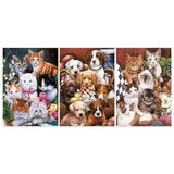 Adorable Pets 3 Piece Canvas
