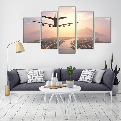 Deer in the Sun 5 Piece Canvas