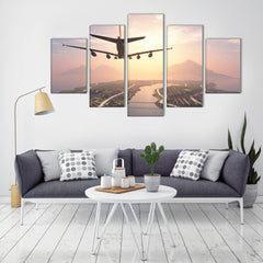 The Pilot's View 5 Piece Canvas