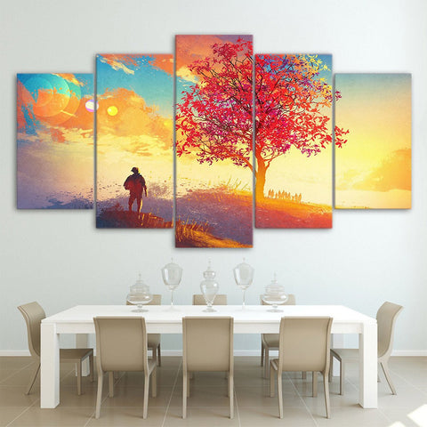 Cats and Dogs 5 Piece Canvas