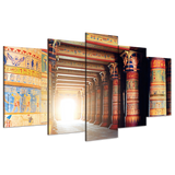 Ancient Temple 5 Piece Canvas