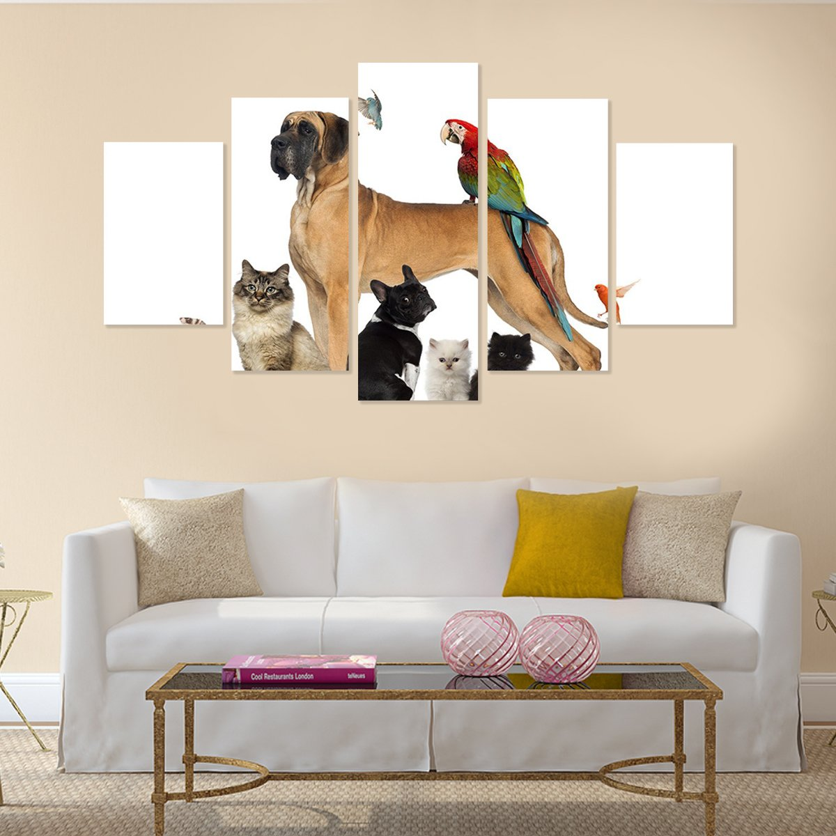 Animal Lover 5 Piece Canvas