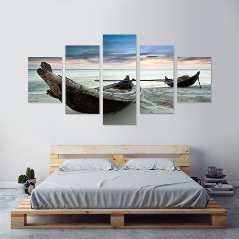 Snowy Lighthouse 5 Piece Canvas