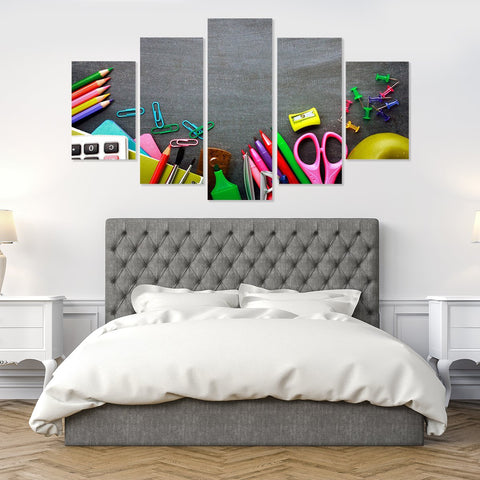 Colorful Heels 5 Piece Canvas