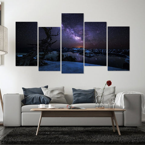 Limited Edition Buddha Pray 5 Piece Canvas