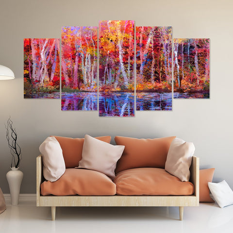Deer Hunting Season 5 Piece Canvas