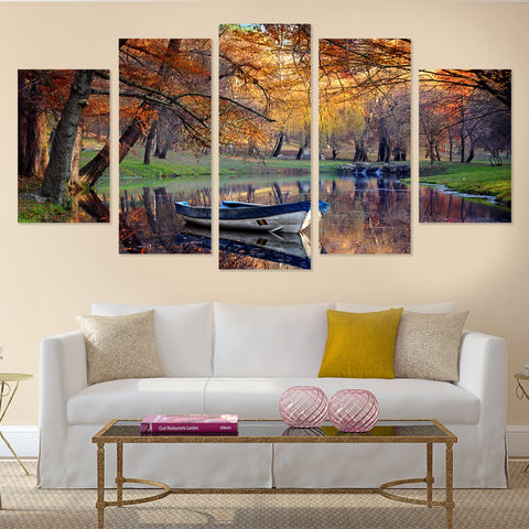 Swimming Through 5 Piece Canvas