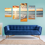 Beach Life 5 Piece Canvas