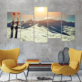 Backcountry Skiing 5 Piece Canvas