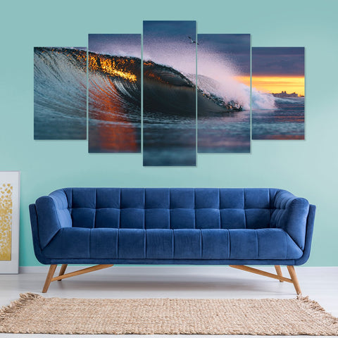 Droplet Ripple 5 Piece Canvas