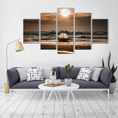 Railway Sunrise 5 Piece Canvas