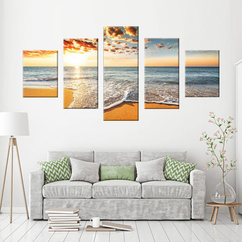 Rocky Shore 5 Piece Canvas