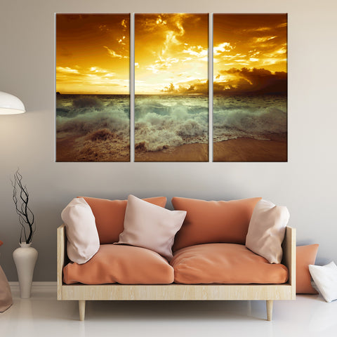 Busy Street 3 Piece Canvas