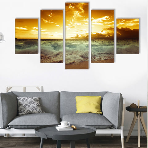 Sea Azure 5 Piece Canvas