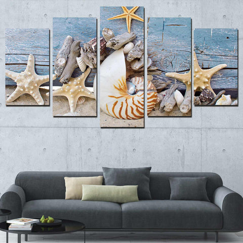 Cowboys At Work 5 Piece Canvas
