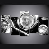 Classic Bike Headlight 5 Piece Canvas