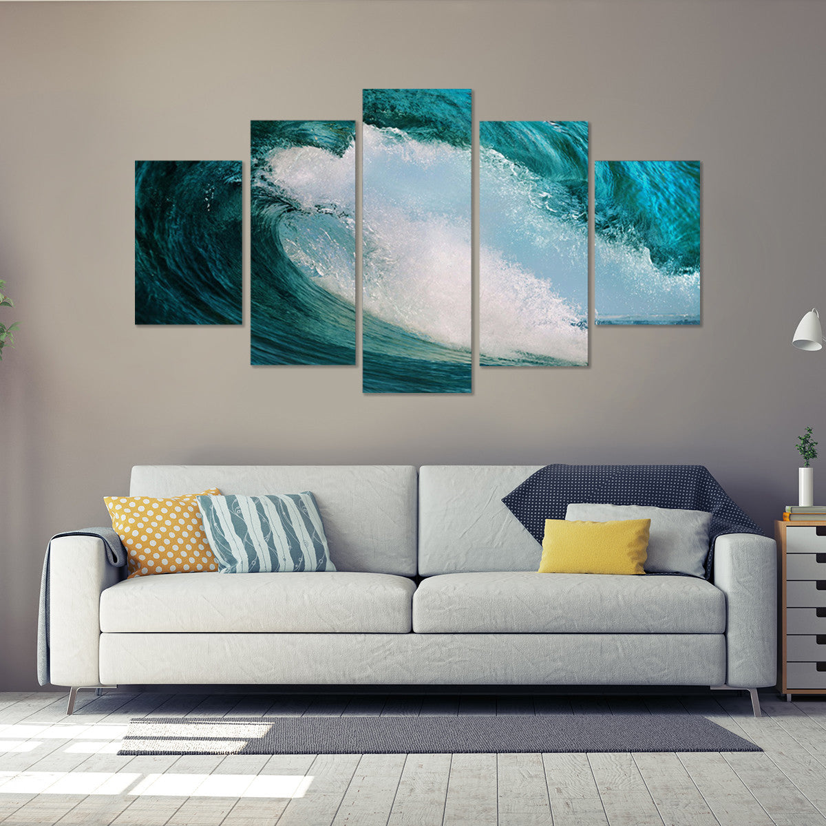Wave Giant 5 Piece Canvas