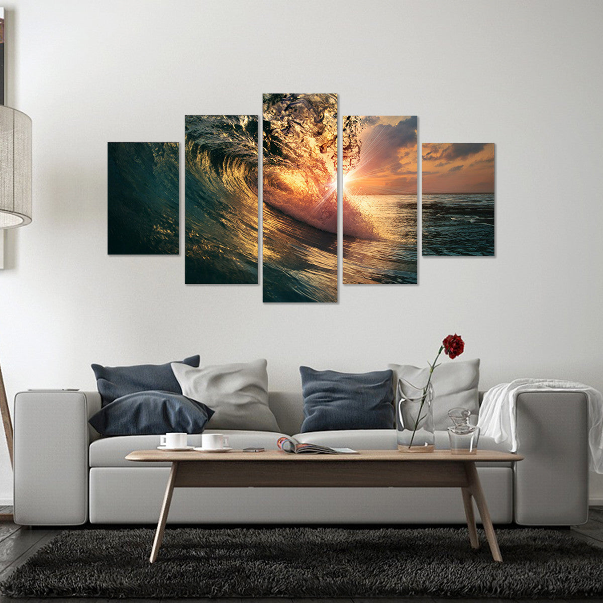 Wave Warmth 5 Piece Canvas