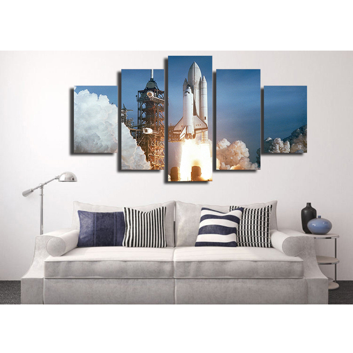 Rocket Launch 5 Piece Canvas