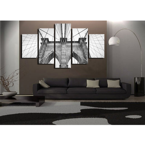 The World At Night 5 Piece Canvas