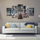 Head of the Herd 5 Piece Canvas