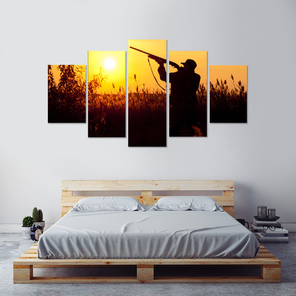 Hunting at Sunset 5 Piece Canvas