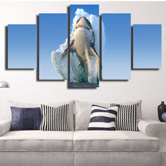 Shark Jump 5 Piece Canvas
