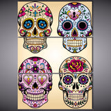 Sugar Skull 3 Piece Canvas