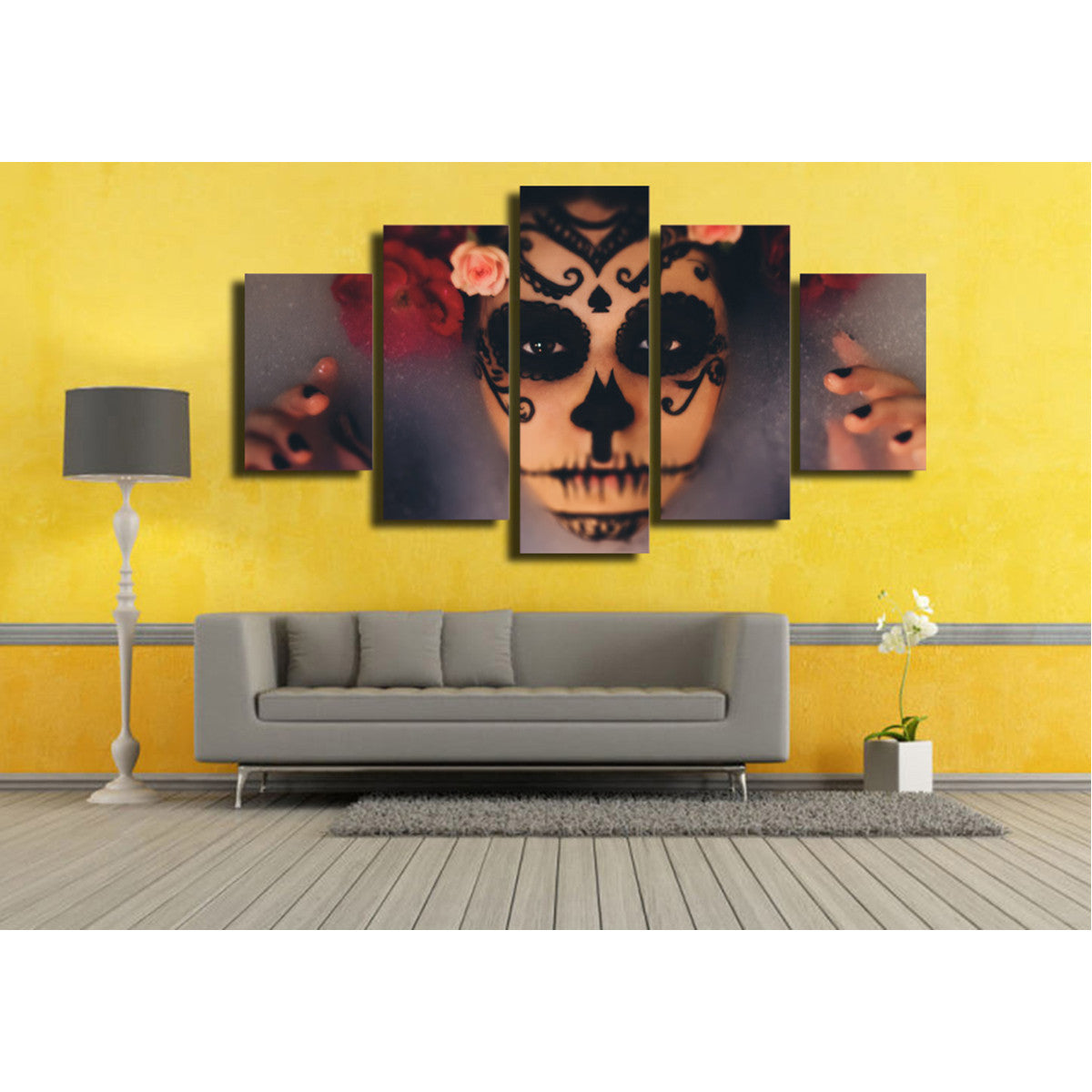 Day of the Dead Glam 5 Piece Canvas