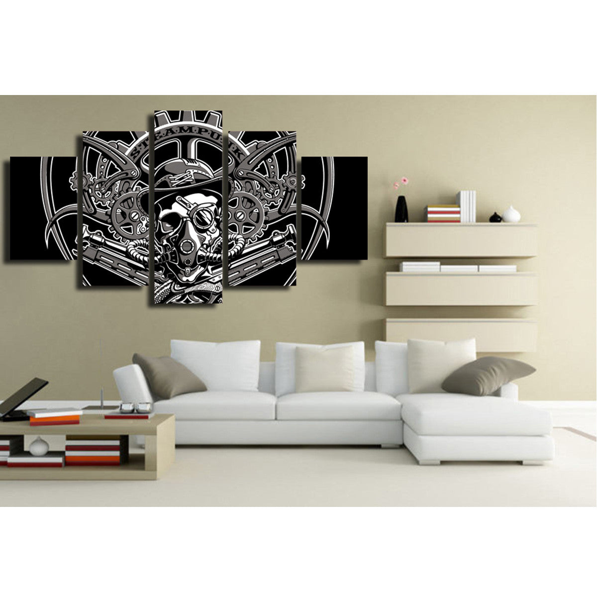 Steampunk 5 Piece Canvas