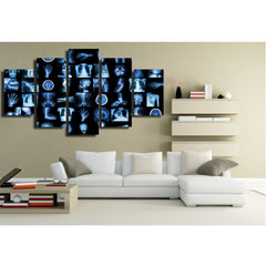 Stormy Sea 5 Piece Canvas