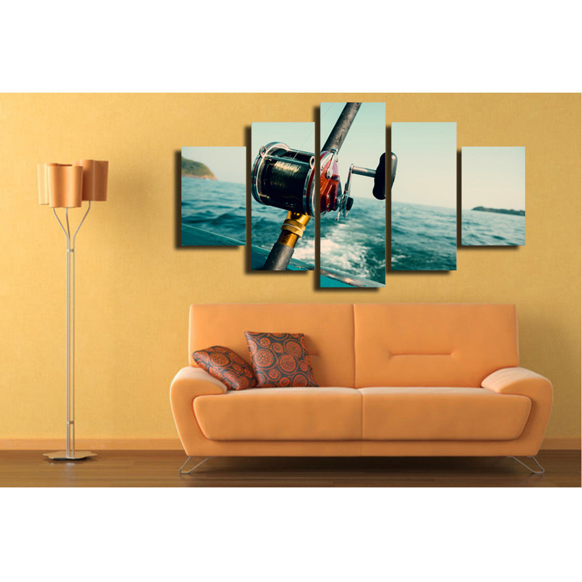 Fishing Reel 5 Piece Canvas