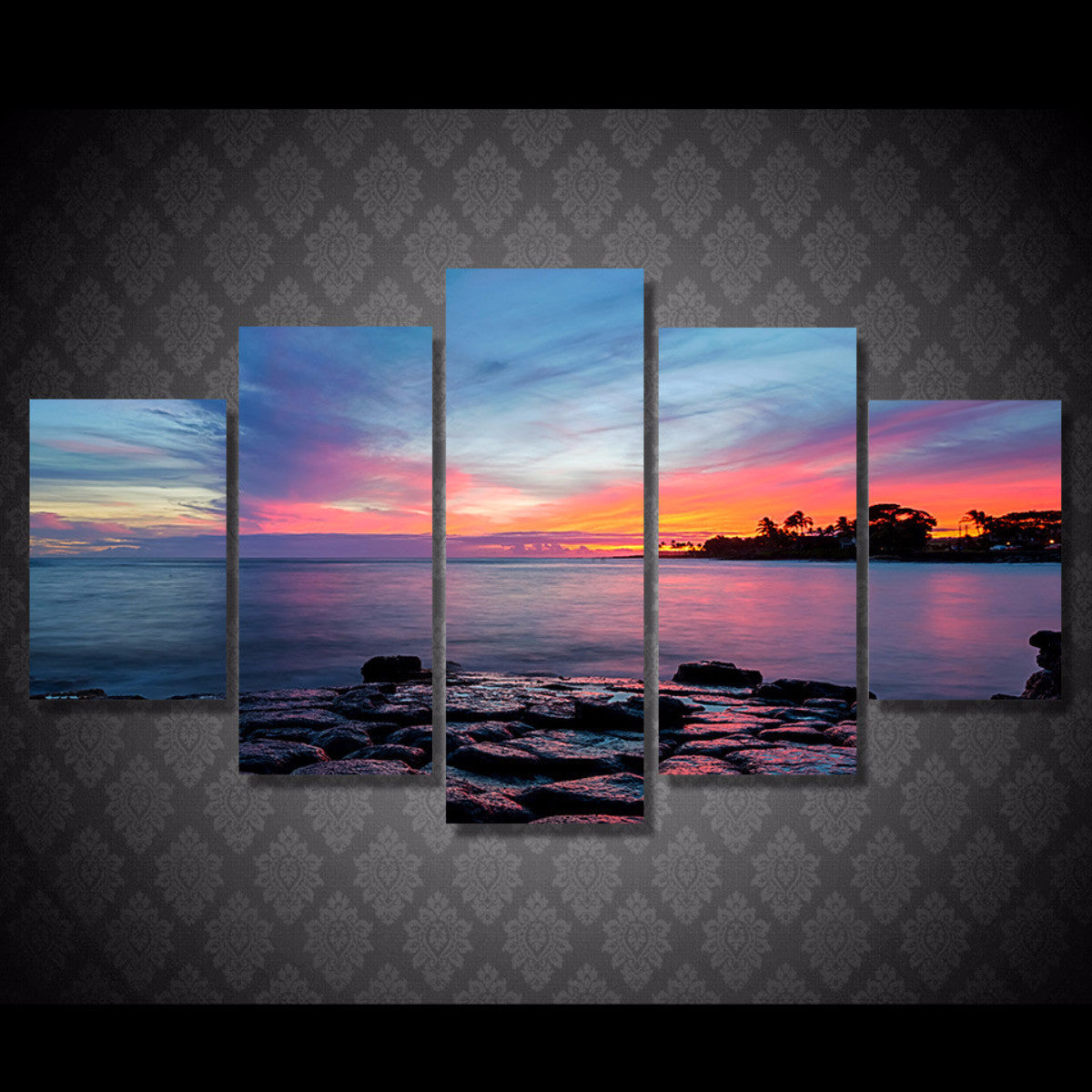 Coastal Beauty 5 Piece Canvas
