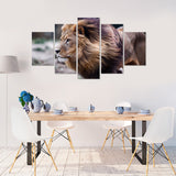 Lion Glory 5 Piece Canvas