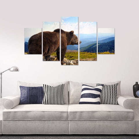 Limited Edition Elegant Horses 5 Piece Canvas