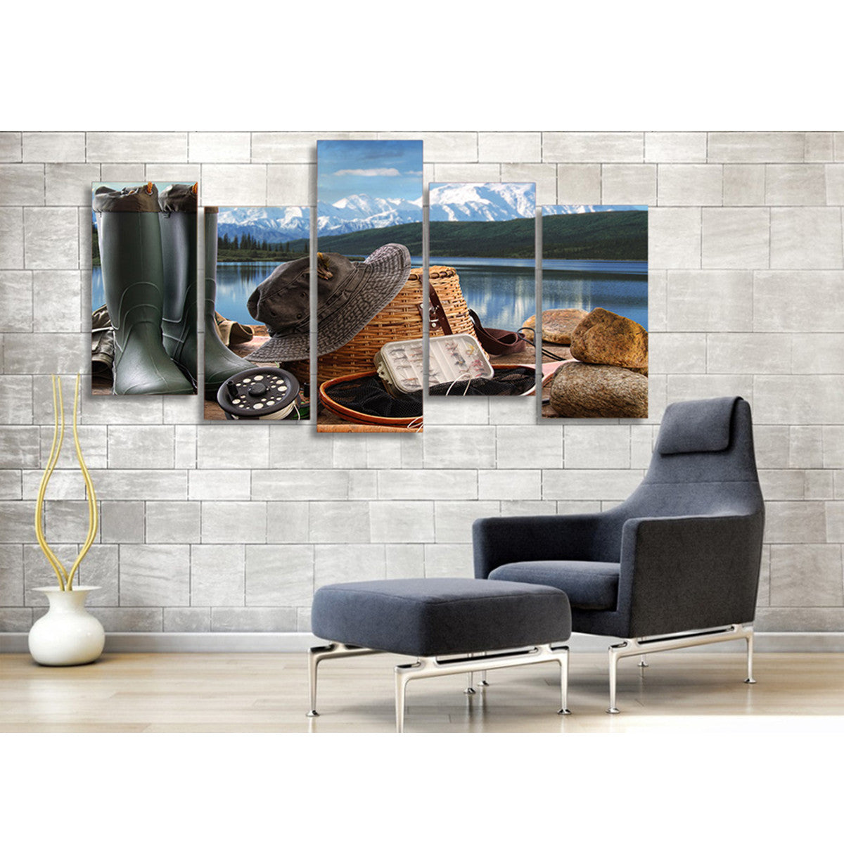 Fishing Gear 5 Piece Canvas