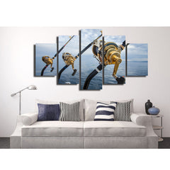 Snowboard Grab 5 Piece Canvas