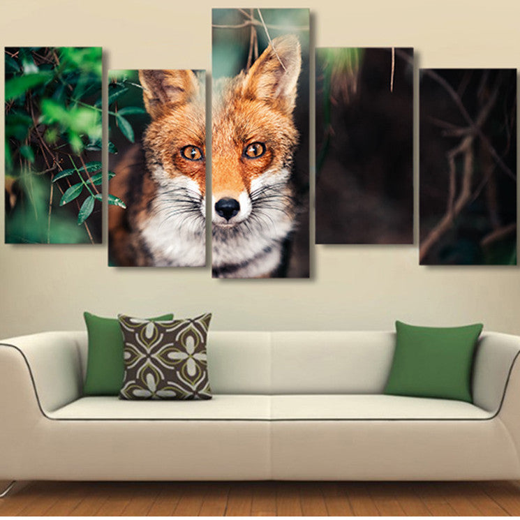 Clever Fox 5 Piece Canvas