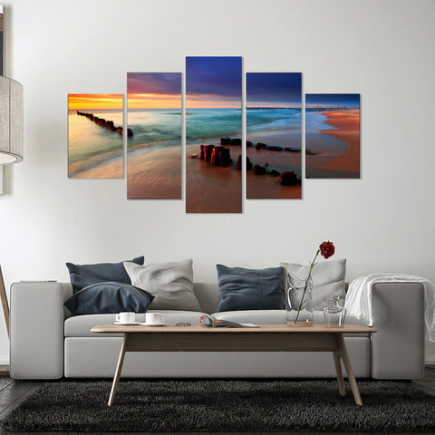 Sea Storm 5 Piece Canvas