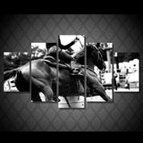Horse Rider 5 Piece Canvas
