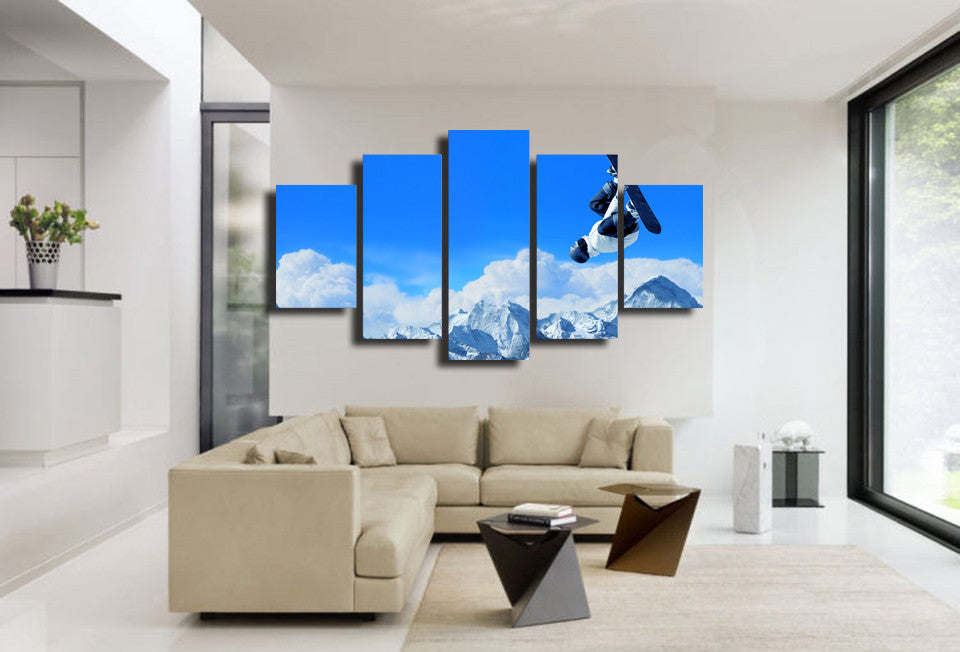 Snowboard Flip 5 Piece Canvas