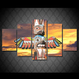 Totem Pole 5 Piece Canvas
